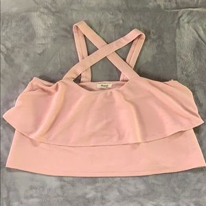 Pink layered crop by Madewell